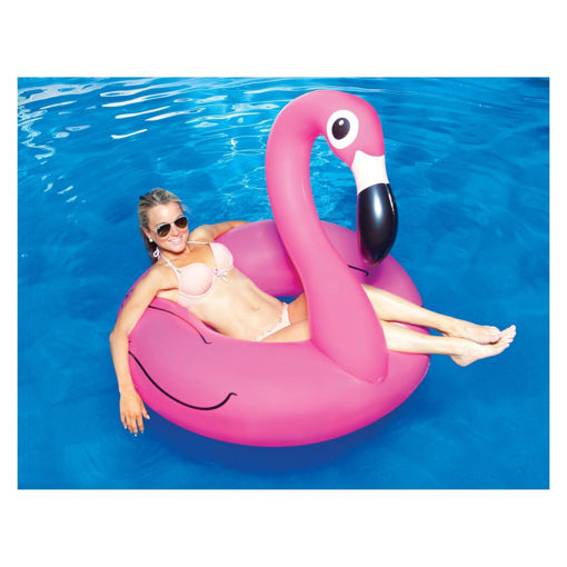 Picture of Big Mouth - Giant Pink Flamingo Pool Float