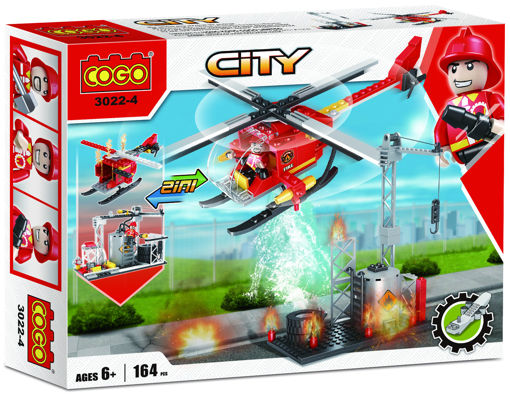 Picture of Cogo - 2 In 1 Fire City 164Pcs