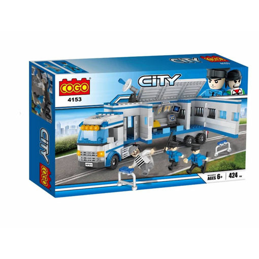 Picture of Cogo - City Police Truck Set Of 424Pcs