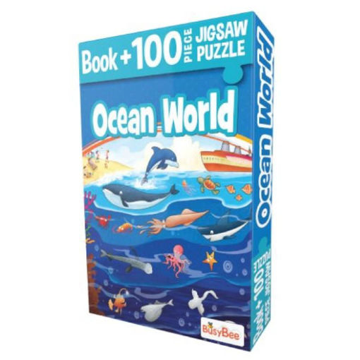 Picture of Busybee- Book+100Pcs Jigsaw Puzzle Ocean World
