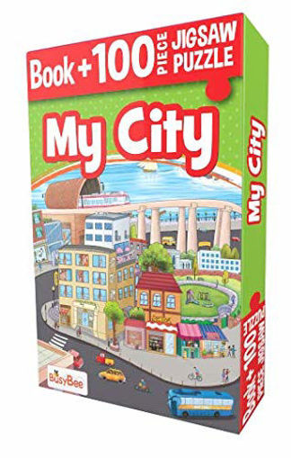 Picture of Busybee- Book+100Pcs Jigsaw My City