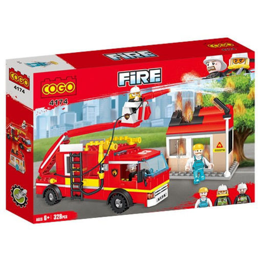 Picture of Cogo - City Fire Fighting Series Fire Trunk Building Brick B