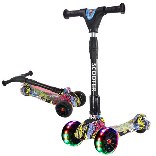 Picture of Scooter Camouflage Bleu/Purple/Black