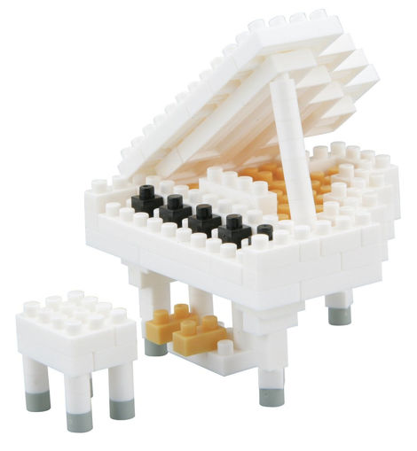 Picture of Grand Piano White Construction Blocks 130Pcs