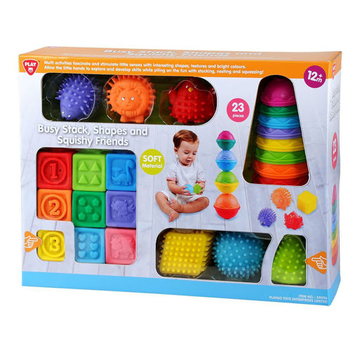 Picture of  Busy Stack Shapes And Squishy Friends - 23 Pcs