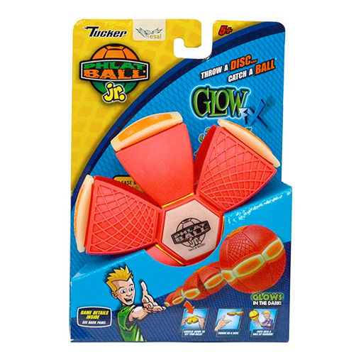 Picture of Phlat Ball Jr. Glow In The Dark - Red/Orange