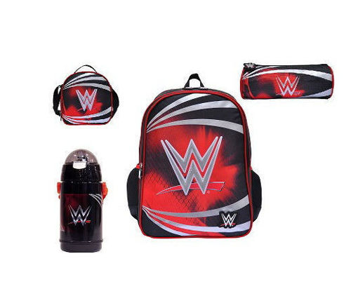 Picture of WWE Set Of 4Pcs Backpack/Lunch Bag/Round Pencil/Water Bottle