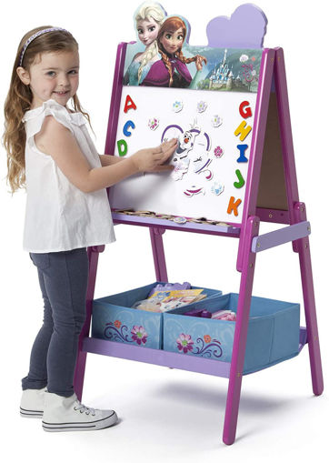 Picture of Frozen Wooden Double Sided Activity Easel With Storage Bins